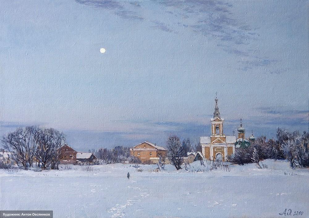 Зимний вечер. Введено-Оятский монастырь
