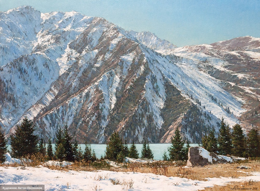 На Большом Алма-Атинском озере. Казахстан
