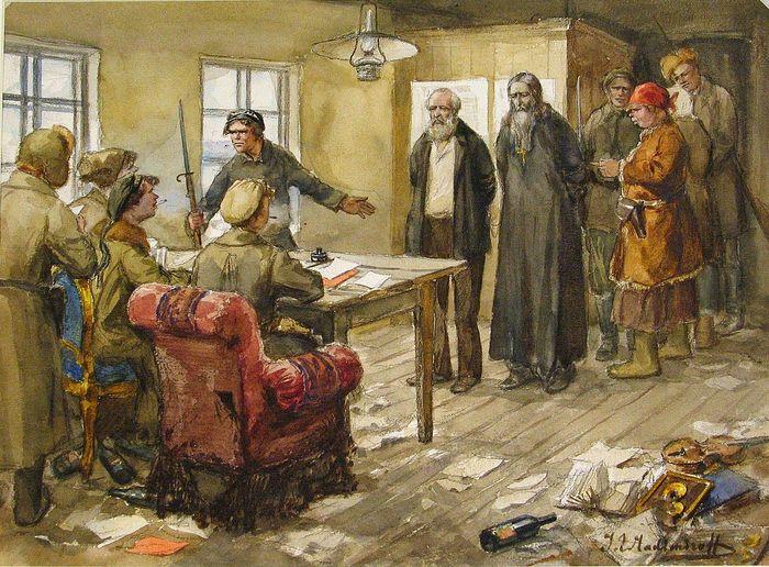 Ivan Vladimirov. Questioning in the committee of poor