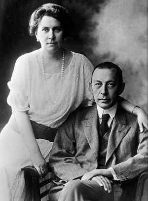 Сергей Рахманинов с женой Натальей Сатиной. 1925 год, США