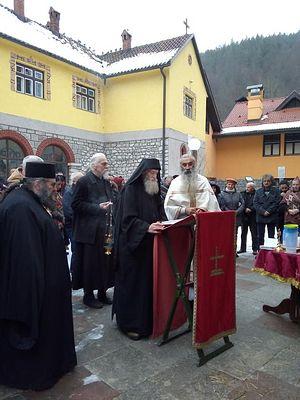 Молебен в монастыре Рача