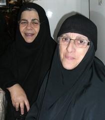 Мать Рафаила и мать Вероника – русские старожилы Елеона. Начало 2000-х гг.