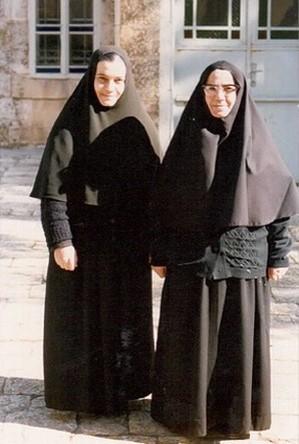 Мать Тамара (Хури) и ее тетя, мать Феоктиста (Ягнам). 1980-е гг.