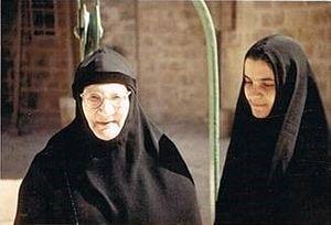 Матушка Тамара и послушница Лариса Хури (буд. мать Тамара) на Елеоне. Кон. 1950-х – нач. 1960-гг.