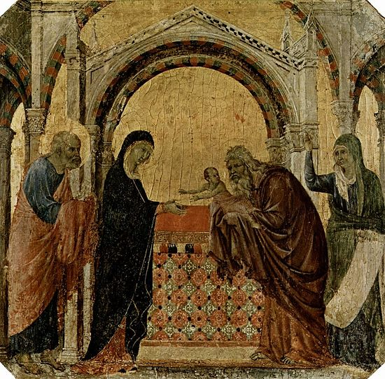 Duccio di Buoninsegna. The Meeting of the Lord. Photo: Wikipedia