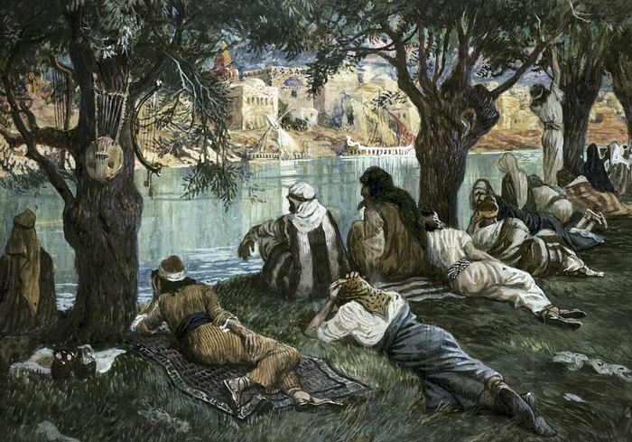 James Tissot. By the Waters of Babylon.