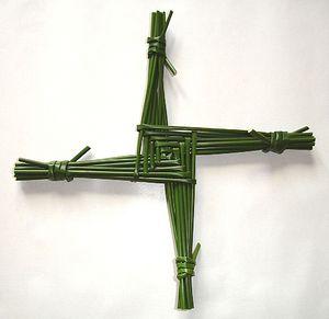 «Крест прп. Бригиты», который плетут ежегодно ко дню ее памяти