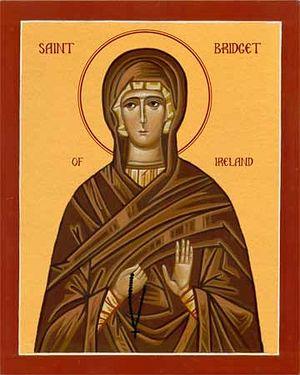 Икона прп. Бригиты Кильдарской