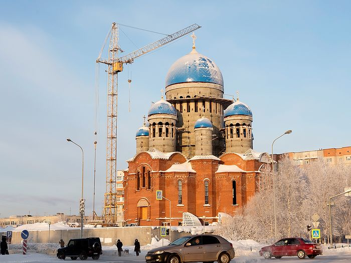 Строящийся Свято-Троицкий собор