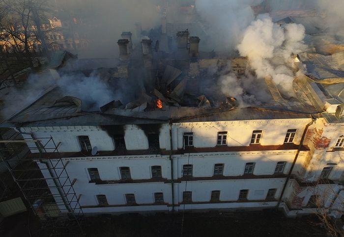 Пострадавшая от пожара Зимняя гостиница Валаамского монастыря будет отреставрирована