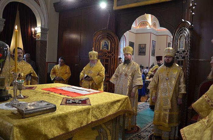 Управляющий делами Московской Патриархии совершил Литургию на Подворье Русской Православной Церкви в Карловых Варах