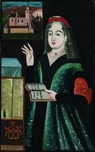 Ирина Ярмолинская, копия с портрета, конец XX — нач. XXI в. (Загаецкий монастырь)