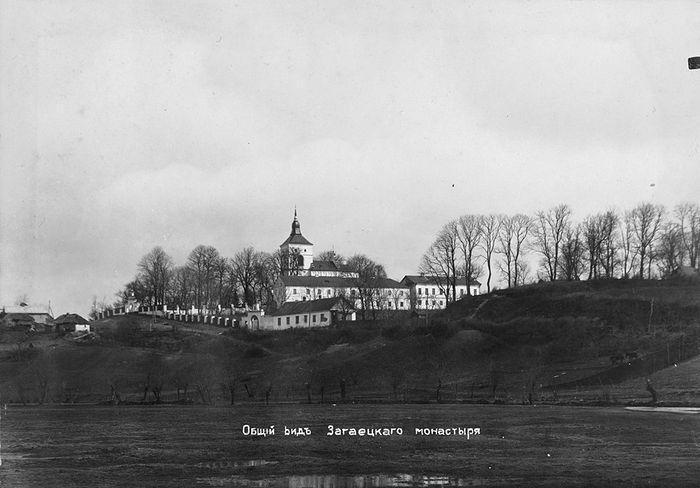Загаецкий мужской монастырь, нач. ХХ в. В 1917 г. ему также принадлежали большой монастырский пруд, пасека, поле, ряд подсобных хозяйственных помещений в урочище Дворище