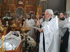 Priest who repented of schism just months before his repose is laid to rest in Ukraine