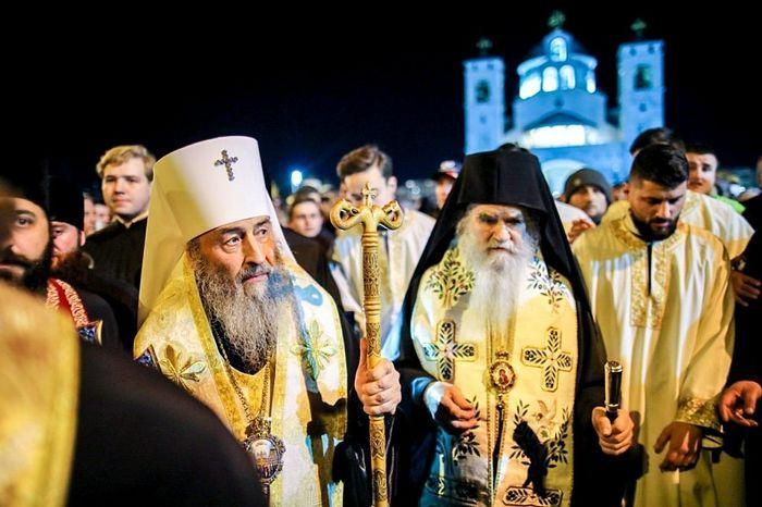 Metropolitan Onuphry of Kiev and Metropolitan Amfilohije of Montenegro. Photo: news.church.ua