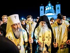 Metropolitan Onuphry of Kiev leads procession in Montenegro in support of persecuted Church (+VIDEOS)