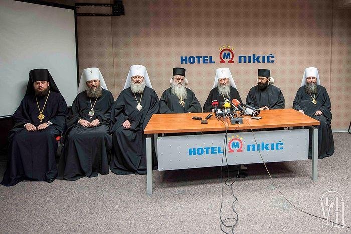 Мы здесь, чтобы поддержать вас, как брат брата — Блаженнейший Митрополит Онуфрий дал пресс-конференцию в Подгорице
