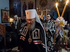Metropolitan Onuphry: sincere repentance tears down the wall erected by human sins