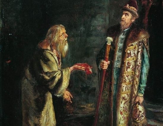 Gregory Grigorievich Myasoedov (1834-1911). Ivan the Terrible in the cell of the Pskov elder Nikolai. Photo: liveinternet.ru
