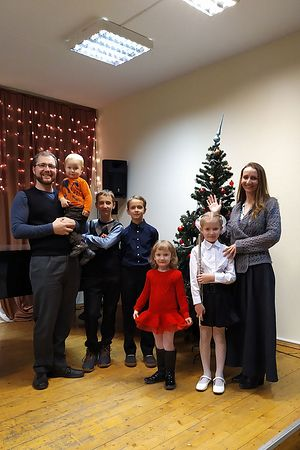 Fr. Vladimir Rinkevich and his family.