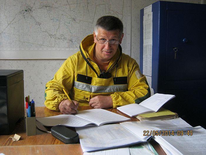 Инструктор парашютно-десантной пожарной службы Станислав Афанасьев