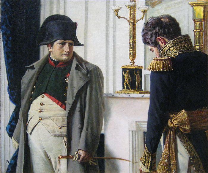 Наполеон и маршал Лористон - мир во что бы то ни стало. Художник: Василий Верещагин