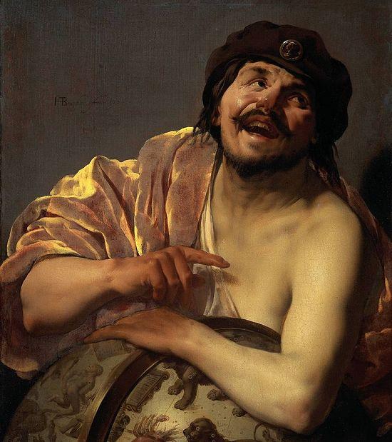 Смеющийся Демокрит. Художник: Хендрик Тербрюгген, 1628
