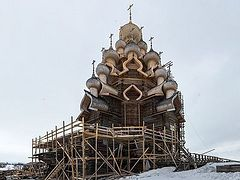 Iconic wooden church of Russian north to reopen after 30 years and large-scale restoration