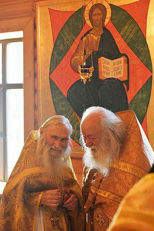 Схиархимандрит Илий и протоиерей Валериан. Фото Алексея Ловена