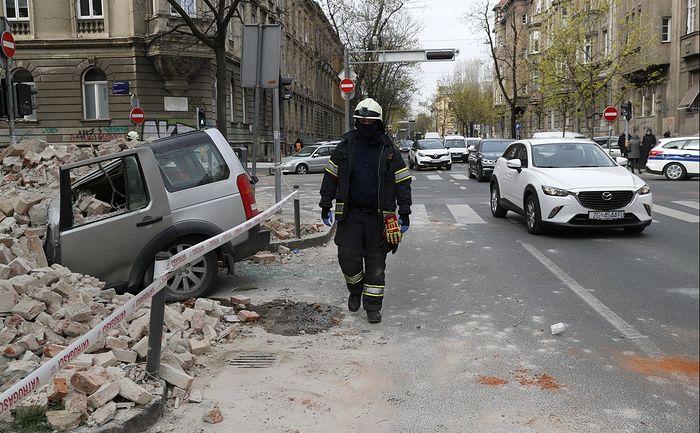Православный кафедральный собор пострадал при землетрясении в Загребе