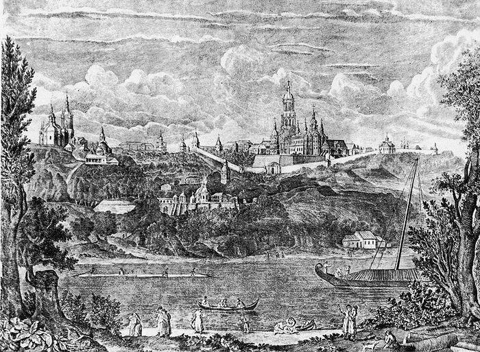 Киев, гравюра XYIII век