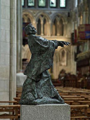 Современное изображение свт. Патрика в нефе собора свт. Патрика в Дублине работы Мелани ле Броки (любезно предоставлено собором Свт. Патрика в Дублине)