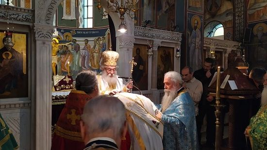 An ordination by Archbishop Damianos at the St. Catherine Metochion in Athens