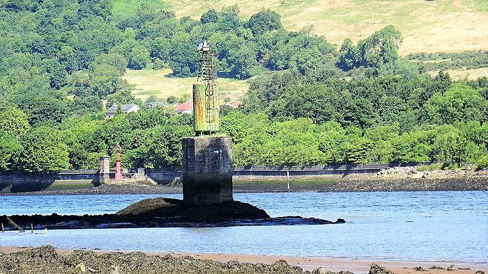 'Камень св. Патрика' на реке Клайд в Шотландии