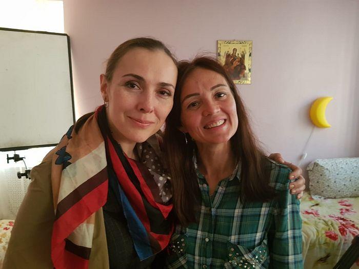 Режиссер Елена Пискарева и актриса Елена Панова в Доме для мамы.