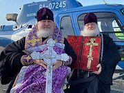 Глава Ставропольской митрополии совершил облет Ставрополя с крестом, освященным в Иерусалиме