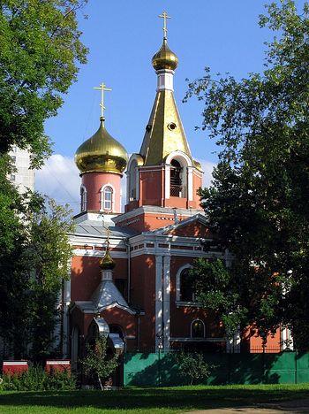 Храм Воскресения Христова на бывшем Семеновском кладбище