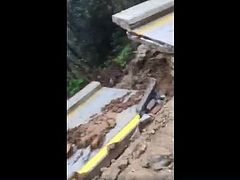 Downpour destroys main road on Mt. Athos