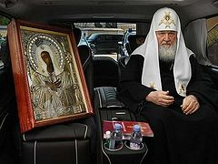 Patriarch Kirill blesses Moscow with wonderworking Tenderness Icon, Bucharest blessed with relics of St. Demetrius the New (+VIDEOS)