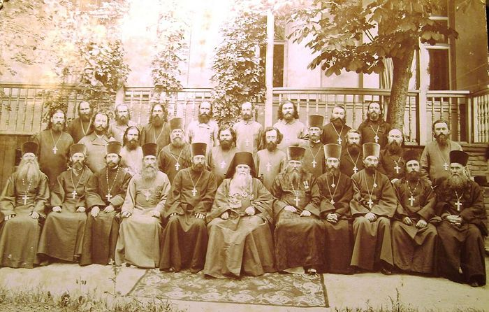 25th Diocesan Congress in Ekaterinoslav (today Dnieper), June 18-25, 1908. Hieromonk Joseph Chekhranov is 6th from the left in the second row