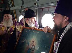 Η από αέρος λιτάνευση στην Ιερά Μητρόπολη Βολγογκράντ