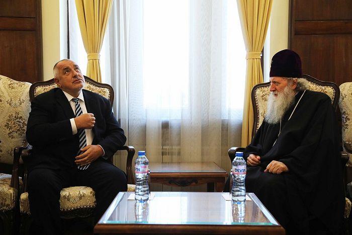Prime Minister Boykov with Patriarch Neofit. Photo: mediapool.bg