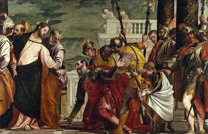 Исцеление сына царедворца, Паоло Веронезе