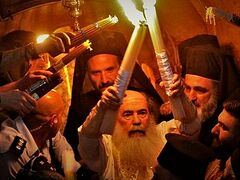Watch descent of Holy Fire in Jerusalem аnd Pascha at Kiev Caves Lavra live online