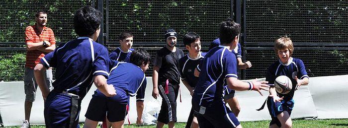 Занятия спортом. Школа имени Якоба Гогебашвили в Кикети