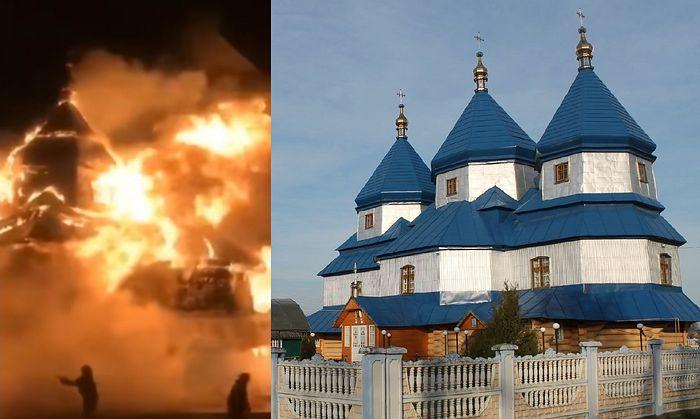 На Буковине сгорела деревянная церковь 1898 года