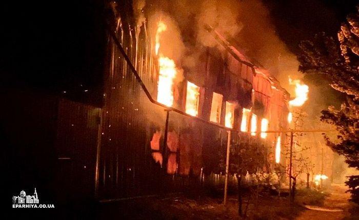 Поджог стал причиной крупного пожара в одесском монастыре