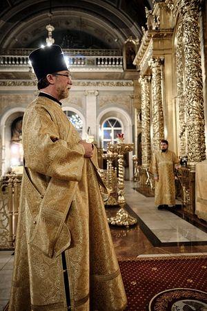 Протодиакон Евгений Трофимов. Служение в Богоявленском Елоховском соборе