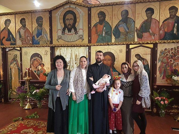 Диакон Димитрий Гончаров с семьей