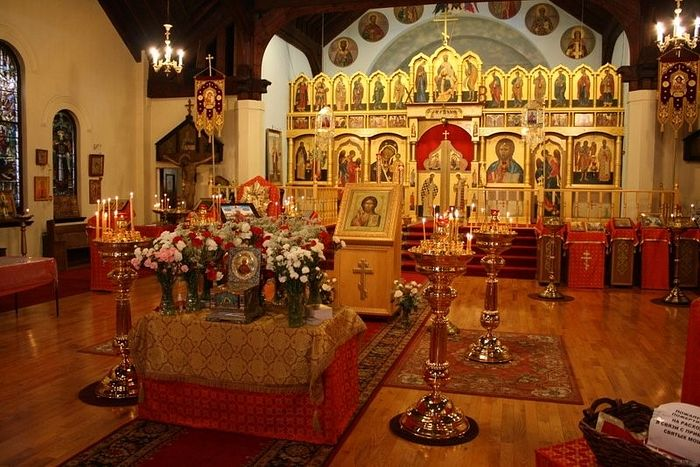 The interior of the Cathedral of Christ the Savior in Toronto